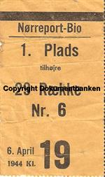 Nørreport-Bio, 6 april 1944