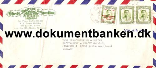 Luftpostbrev til Germany 1962
