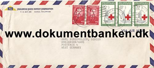 Luftpostbrev til Germany. 1965
