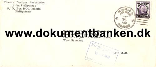 Luftpostbrev til Germany 1963