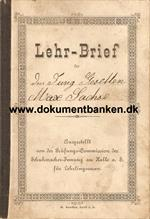 Lehr-Brief for en Max Sachse f. 19 maj 1875