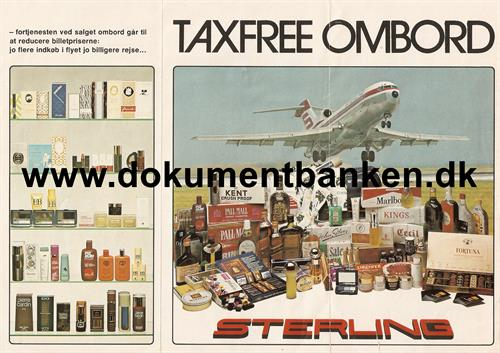 Sterling Taxfree Ombord folder