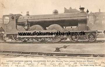 Latest Express Engine Caledonian RLY - Post Card
