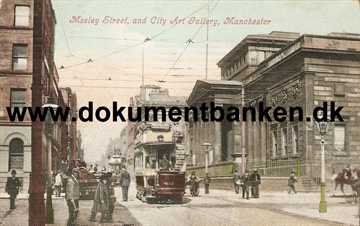 Manchester - Mosley Street and City Art Gallery - Post Card