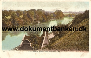 Guernsey, Pangbourne Reach, from Shooter's Hill. Post Card