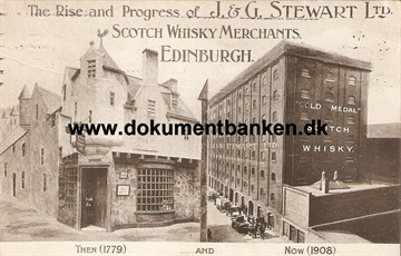 Edingburgh, J & G Stewart Ltd. Scotch Whisky. Post Card