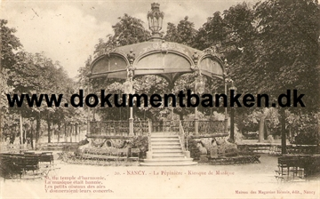 Nancy. La Pepiniere - Kiosque de Musique. Carte Postale