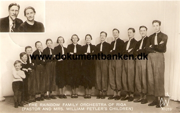 The Rainbow Family Orchestra Of Riga. Sverige. Postkort 1939