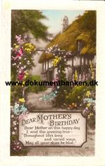 Dear Mother's Birthday, kortet stemplet Jersey