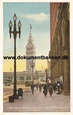 San Francisco. Lower Market Street showing Ferry Tower