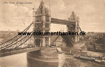 The Tower Bridge, London. Post Card. Juni 1914