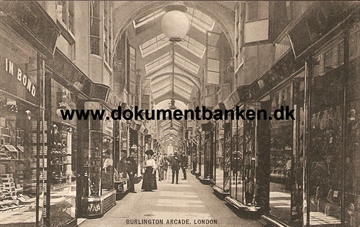 Burlington Arcade, London. 1914. Post Card