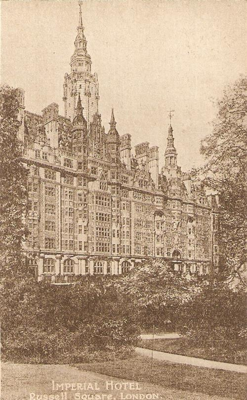 Imperial Hotel. Russell Square, London.1913. Post Card