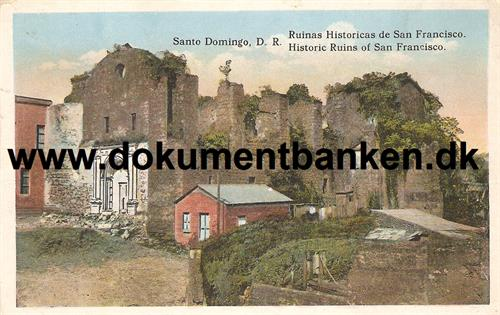 Santa Domingo. Historic Ruins of San Francisco. Den Dominikanske Republik