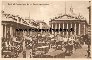 London. Bank of England and Royal Exchange