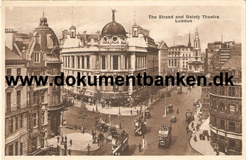 London. The Strand and Gaiety Theatre