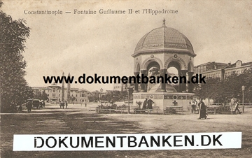 Constantinople - Fontaine Guillaume ll et l'Hippodrome. Tyrkiet. Post Card.