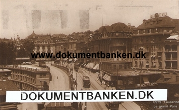 Lausanne. Le Grand Pont. Post Card. Schweiz. 1922