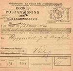 Inrikes Postanvisning - Visby 1924